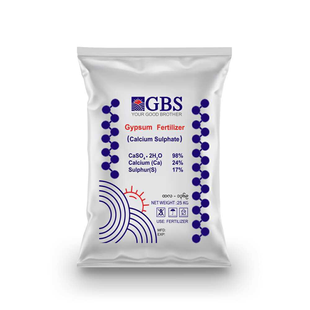 GBS Brand Fertilizer: Gypsum Fertilizer (Calcium Sulphate) 25 KG