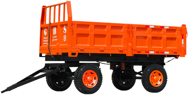 GBM-OT126(7 Ton Sidewall Cargo Transport 4 Wheel Farm Trailer)